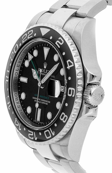 Rolex GMT-Master II 116710LN Orologio da uomo nero in acciaio da 40 mm