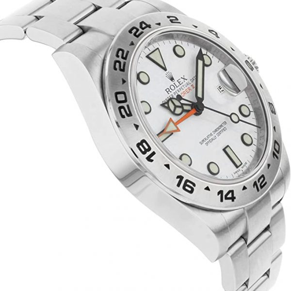 Rolex Explorer II 216570 Quadrante bianco 42mm Orologio rotondo da uomo